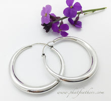 Load image into Gallery viewer, Thin Sterling Silver Hoops