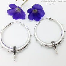 Load image into Gallery viewer, Thin Sterling Silver Spike Hoops