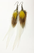 Load image into Gallery viewer, Yellow macaw Feather Earrings