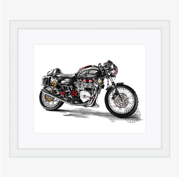 Tinta by Bulka Motorcycle Custom Painting (Framed) 8x10