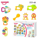 Huanger 8pcs/set Baby Rattles/Mobiles Mama Papa Baby Teether Toys Newborns as Toddler Educational Gift Brinquedo Bebe#777-41(A)