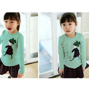 Kids Toddler Clothes Baby Girls Clothing Cartoon Girl Print Long Sleeve T shirts Casual Blouse Tops Children's Clothing