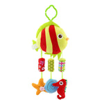 Newborn Infant Crib Rattles Bell Toy Cartoon Animal Toddler Bed Hanging Owl/Fish/Elephant Baby Plush Wind Chime Toys YH-