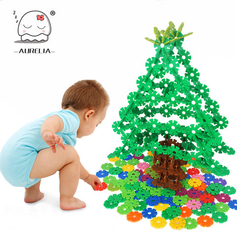 300 PCS Snowflake Building Blocks Baby Toy