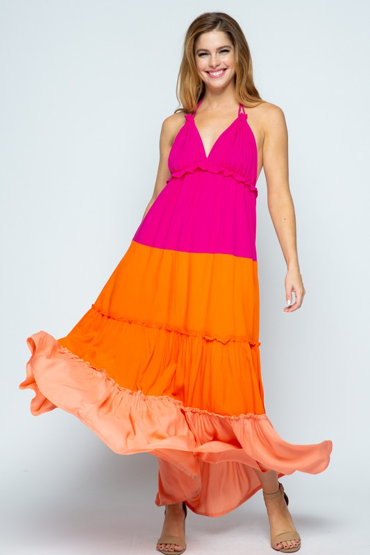 Color Block Maxi Dress - Style Envy Boutique