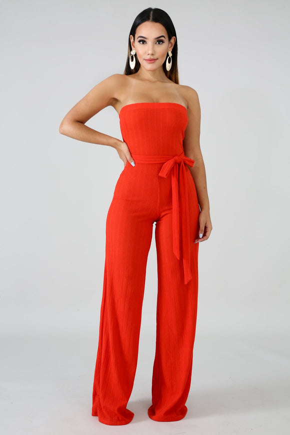Spring Coral Jumpsuit