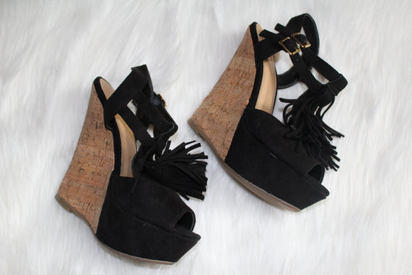 Dhalia Fringe Wedges - Style Envy Boutique