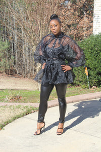 Show Stopper Sheer Top - Style Envy Boutique