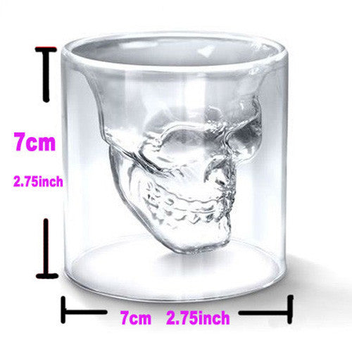 Skull Head Shot Glass Cup