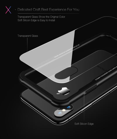 9H Tempered Silicone Edge - iPhone Case