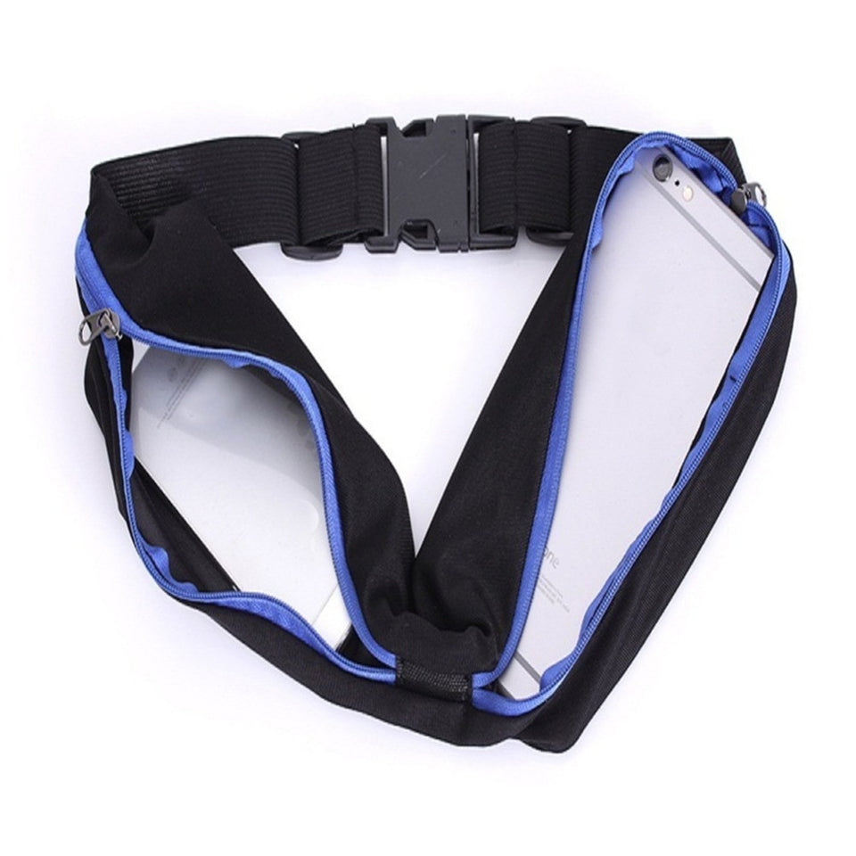 Sweat Resistant Runners Belt Fanny Pack Mobile Phone Pouch Bag for Hiking Cycling Climbing Jogging and for 6.5 inches Smartphones Gdarertybs Dual Pocket Running Belt