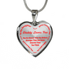 To My Daughter Always Remember - Daddy Loves You Silver Pendant Necklace (Red)