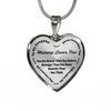 To My Daughter Always Remember - Mommy Loves You Silver Pendant Necklace (Black)