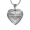 To My Daughter Always Remember - Daddy Loves Your Silver Pendant Necklace (Black)