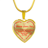 To My Daughter Always Remember - Daddy Loves Your 18K Gold Pendant Necklace (Red)
