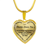 To My Daughter Always Remember - Daddy Loves Your 18K Gold Pendant Necklace (Black)
