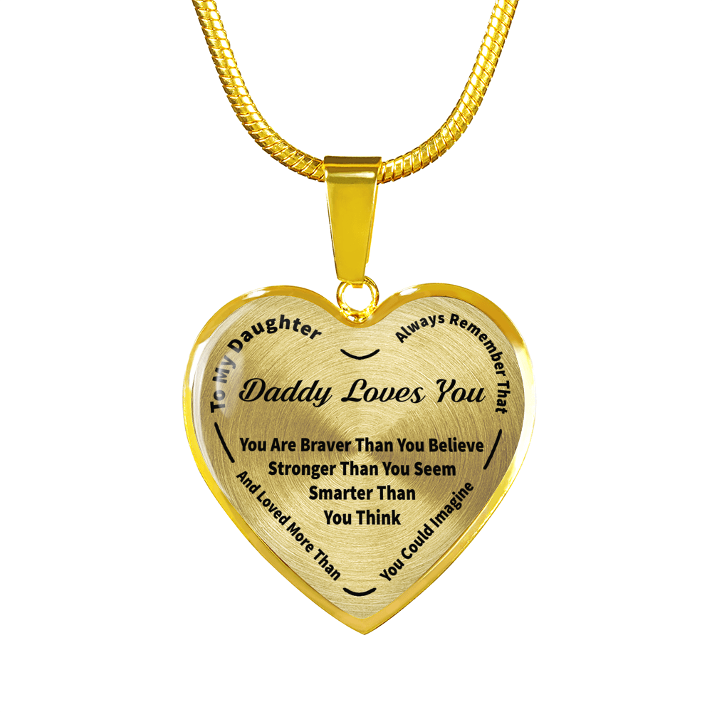 To my daughter always remember daddy loves your 18k gold pendant to my daughter always remember daddy loves your 18k gold pendant necklace black aloadofball Gallery