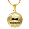 18K Plated Gold A Great Dad Makes Great Adventures Pendant Necklace