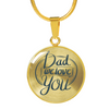 18K Plated Dad We Love You Pendant Necklace