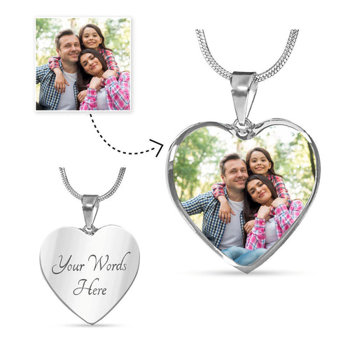 Personalize Your Own Heart Photo Necklace