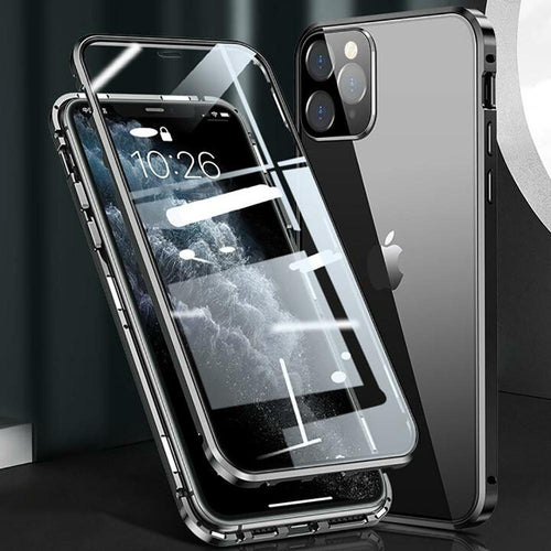 Magnetic Metal Tempered Glass Case - iPhone 12