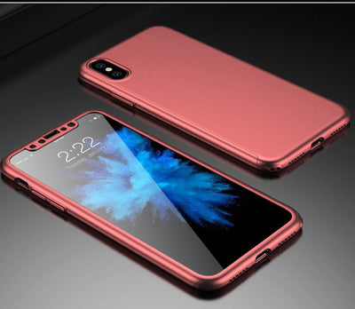 360 iPhone X Case With Tempered Glass