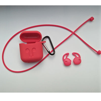 Silicone Ear Air Pod Charger Storage Case - Ear Hooks Included