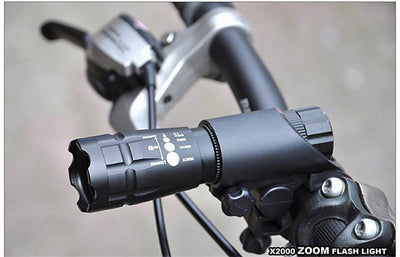 Waterproof LED Penlight 2000 Lumens Bicycle Light With Mount