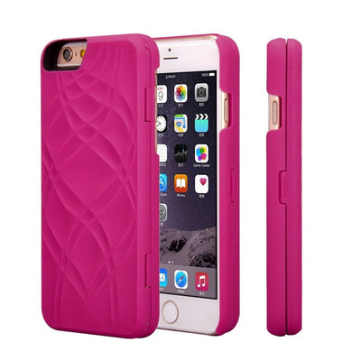Make UP Mirror Card Slot Wallet Case For iPhone 6/6S & 6Plus /6S Plus
