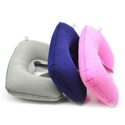 Inflatable U Shaped Travel Pillow Head Neck Rest