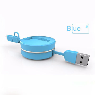 CAFELE 2 in 1 Retractable Stylish USB Charging Cable for iPhone / Android