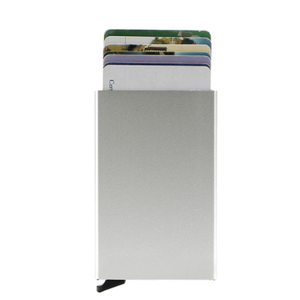 RFID Automatic Pop-up Aluminum Card Case Protection