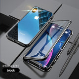 Magnetic 9H Double Sided Tempered Glass iPhone Case