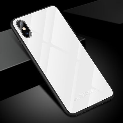 Tempered 9H Glass Case For iPhone X XS MAX XR