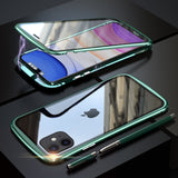 Magnetic Metal Tempered Glass Case - iPhone 11