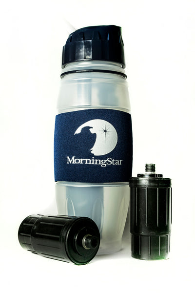 Water Bottle & 2-Filter Bundle