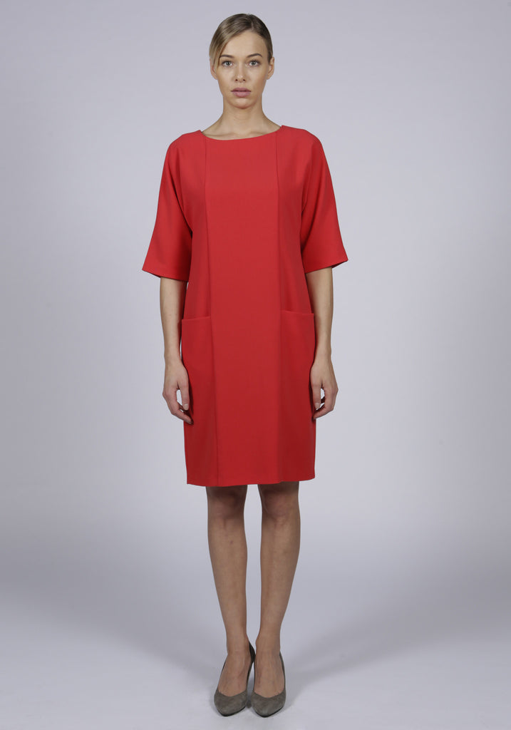 Pocket dress - red