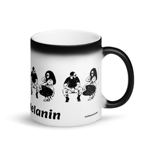 Cup of Melanin: Matte Black Magic Mug