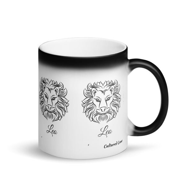 LEO: Matte Black Magic Mug