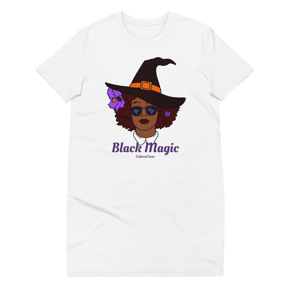 Black Magic: Organic cotton t-shirt dress