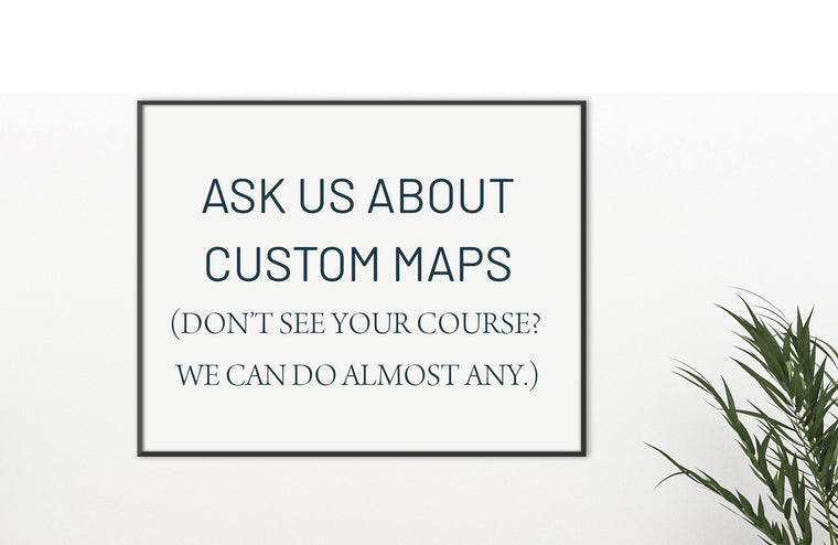 Custom Golf Course Map, ANY Golf Course Map World Vibe Studio