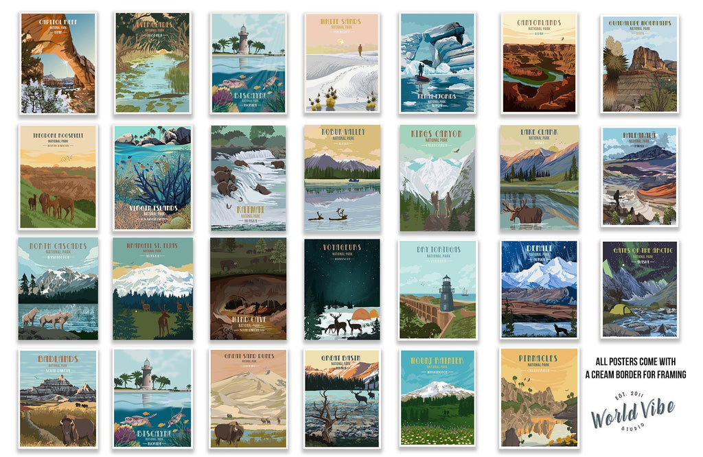 National Parks of America Posters
