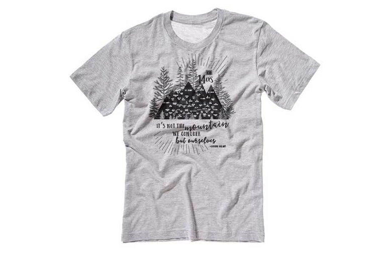 Colorado 14er Mountain Tshirt, Unisex Map World Vibe Studio
