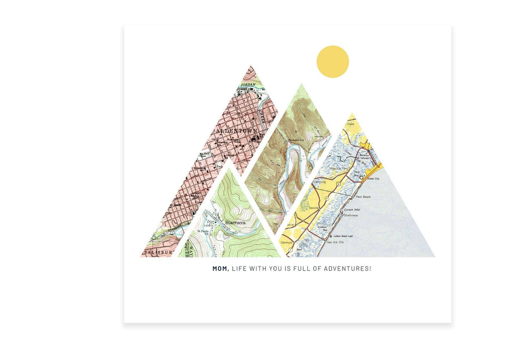 Mother's Day Gift - Custom Mountain Map Map World Vibe Studio