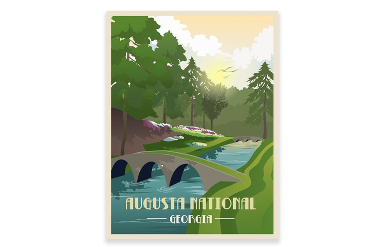 Augusta National Golf Club Poster, Golf Clubs of America, Unframed Map World Vibe Studio
