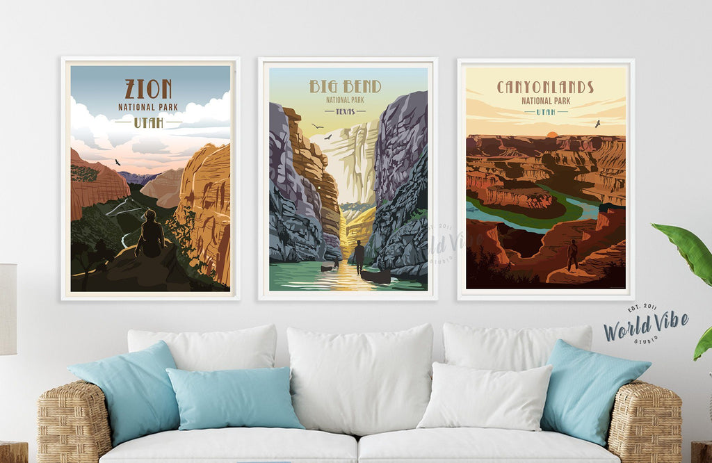 Big Bend National Park, Texas, National Park Poster, Unframed Map World Vibe Studio
