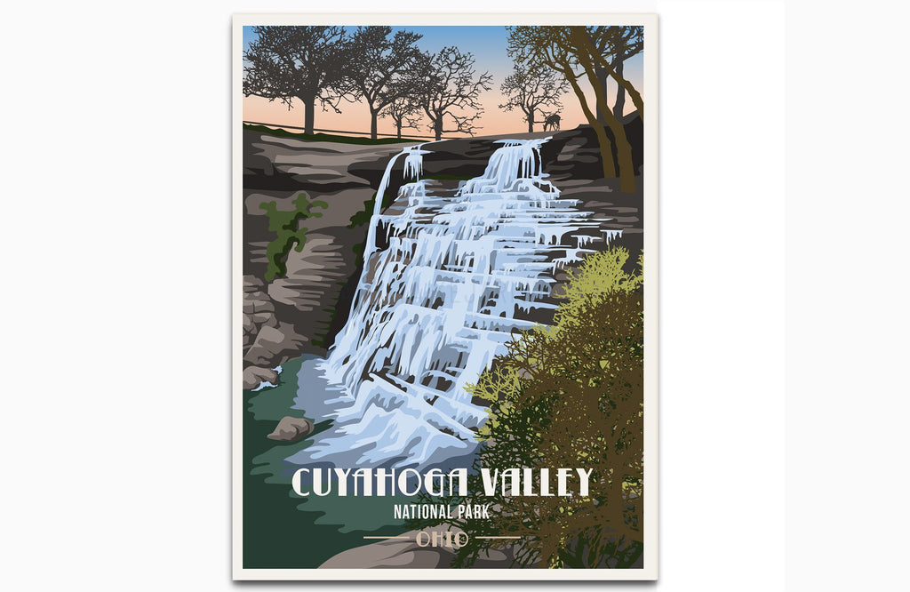 Cuyahoga Valley National Park, Ohio, National Park Poster, Unframed Map World Vibe Studio 8X10