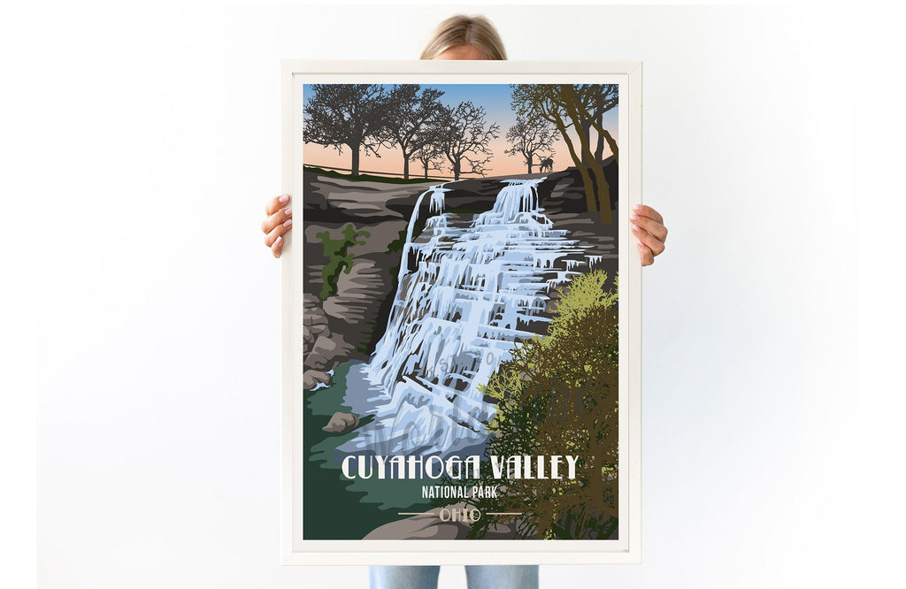 Cuyahoga Valley National Park, Ohio, National Park Poster, Unframed Map World Vibe Studio