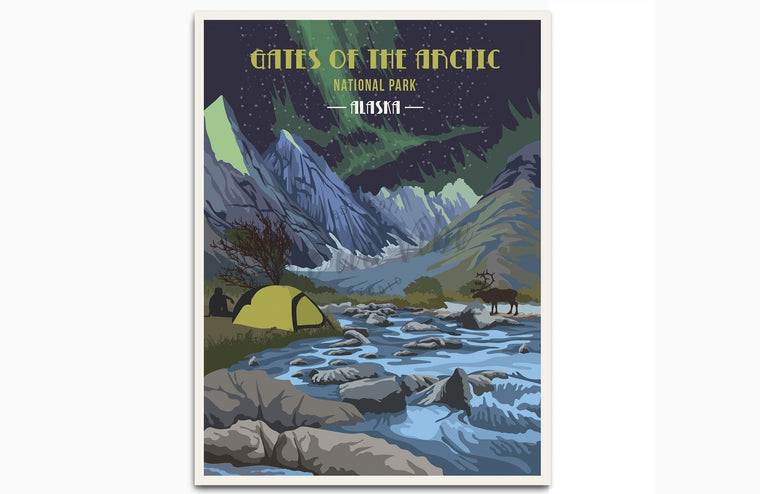 Gates of The Arctic National Park Poster, National Park Posters, Wall Art, Unframed Map World Vibe Studio 8X10