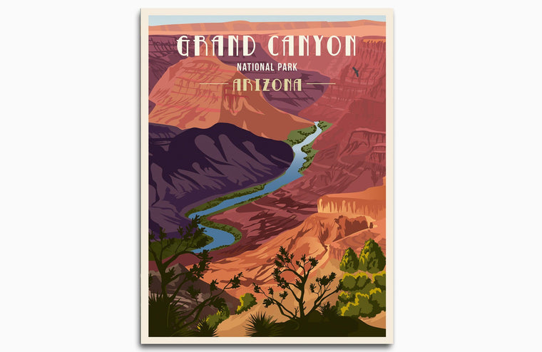 Grand Canyon National Park, National Park Poster, Unframed Map World Vibe Studio